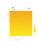 Post-it isolated on white Stock Photography