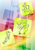 Post It Notes On Abstract Background Royalty Free Stock Photos