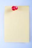 Post-Itanmerkung mit Stift lizenzfreie stockbilder