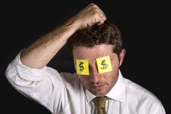 Post-Itanmerkungen für Augen Lizenzfreies Stockfoto