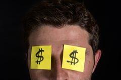 Post-Itanmerkungen für Augen Stockfotos
