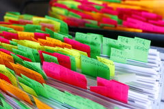 Post-its Photographie stock