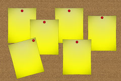 Post-its. Post-it notes on the board Stock Photography