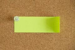 Post-its in a cork board Stock Image