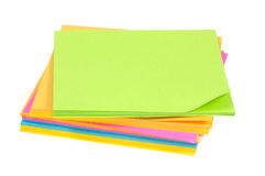 Post-its de couleur Photographie stock libre de droits
