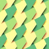 The post-its. Green and yellow post-its in a seamless patern Royalty Free Stock Image