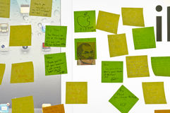 Post-Its to remembering Steve Royalty Free Stock Images