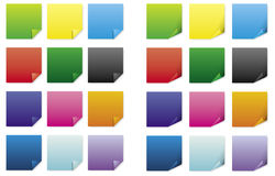 Post-Its (vector) Royalty Free Stock Photo