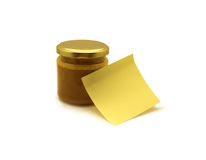 Post-it and jar Stock Photos