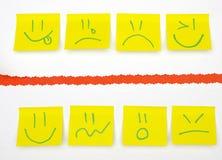 Post-it jaune Images stock