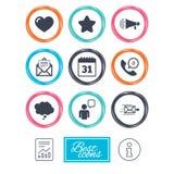 Post kontaktsymboler Kommunikationstecken royaltyfri illustrationer