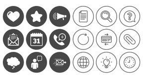 Post kontaktsymboler Kommunikationstecken stock illustrationer