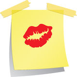 Post-it Love Royalty Free Stock Images
