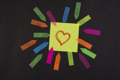 Post it love royalty free stock photography
