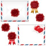 Post Love Set. Vector Royalty Free Stock Photos