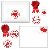Post Love Set. Vector Stock Image