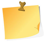 Post it with magnet Royalty Free Stock Images