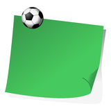 Post it and magnet ball Royalty Free Stock Image