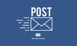 Post Mail Correspondence Online Message Communication Concept Royalty Free Stock Photos