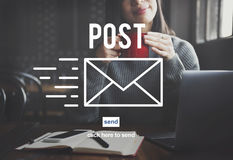 Post Mail Correspondence Online Message Communication Concept Stock Photography
