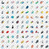 100 post and mail icons set, isometric 3d style Stock Photography