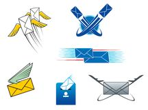 Post mail and letters symbols Royalty Free Stock Photo