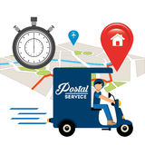 Post mail service design. Vector illustration eps10 graphic Royalty Free Stock Photo