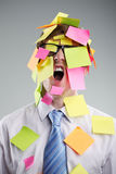 Post-it man Royalty Free Stock Images