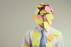 Post-it man Stock Photography