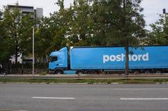 POST-MANN VON POSTNORD Lizenzfreie Stockbilder