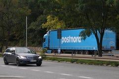 POST-MANN VON POSTNORD Lizenzfreies Stockbild