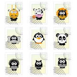 Post mark with funny animals vector illustration Royalty Free Stock Photography