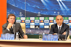 Post-match conference Stock Image