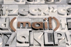 Post mellan andra typer av press arkivfoto