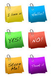 Post it messages Stock Image