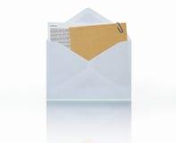Post mit Befestigung Lizenzfreies Stockbild
