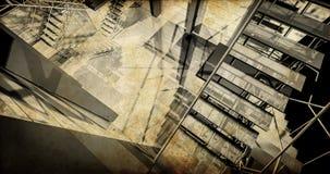 Post. Modern industrieel binnenland, treden, schone ruimte in indu Stock Foto