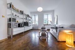 Post modern interior design interior. Classic post modern interior design in white colours Royalty Free Stock Photos
