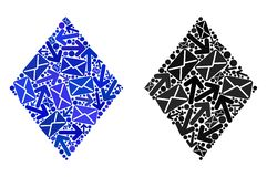 Post Motion Collage Filled Rhombus Icons royalty free illustration