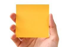 Post-it! - nadruk op post-it Stock Afbeelding
