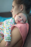 Post Natal Depression Royalty Free Stock Images
