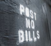 Post No Bills Royalty Free Stock Photography