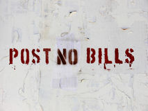 Post No Bills Stock Photography