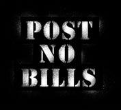 Post no bills graffiti spray Stock Photo
