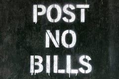 Free Post No Bills Sign Royalty Free Stock Photo - 63701795