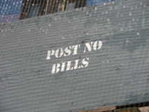 Post no bills signage Stock Image