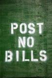 Post no bills Royalty Free Stock Photo