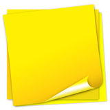 Post it note. Post-it note papers with bended corner Royalty Free Stock Image