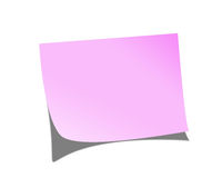 Post it note. Pink post it note on a light background Royalty Free Stock Image