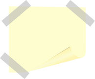 Post-it note. Yellow post-it note.Vector illustration Stock Photography